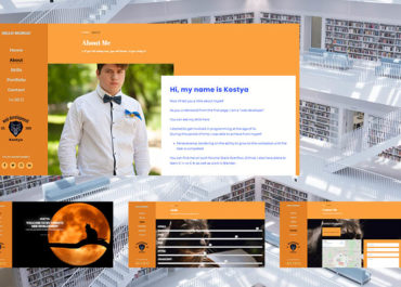 Власне портфоліо веб-розробника! Випускова робота.